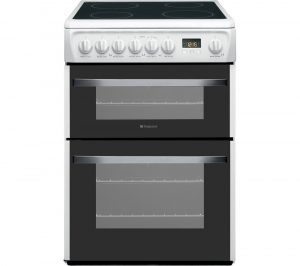 HOTPOINT DSC60P.1 60 cm Electric Ceramic Cooker - White, White