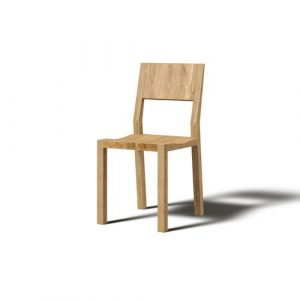 Hevy Solid Wood Dining Chair (Set of 2) JAVORINA