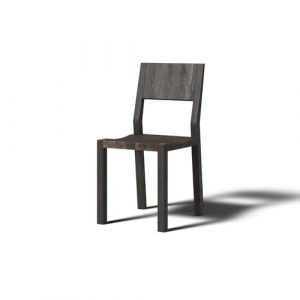 Hevy Solid Wood Dining Chair (Set of 2) JAVORINA Colour: Coffee