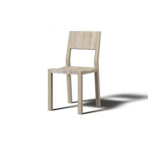 Hevy Solid Wood Dining Chair (Set of 2) JAVORINA Colour: White