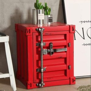Hubble Industrial Shipping Container Side Table with Storage Williston Forge