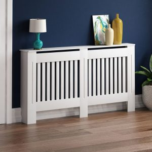 (Large) Home Discount Chelsea White Radiator Cover