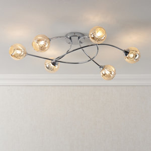 Ledbury Chrome effect 6 Lamp Ceiling light