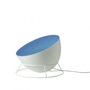 Luna 27.5cm Floor Lamp In-es.artdesign Base Finish: White, Shade Colour: White/Blue