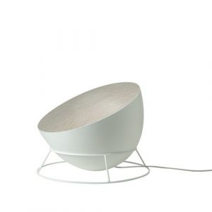 Luna 27.5cm Floor Lamp In-es.artdesign Base Finish: White, Shade Colour: White/Silver