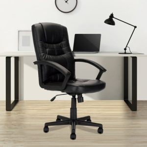 Managers Executive Chair Home & Haus Colour: White