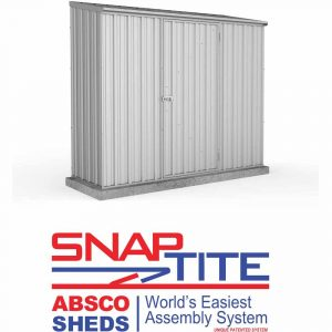 Mercia Garden Products Absco Space Saver 2.2 x 0.78m Pent Metal Shed