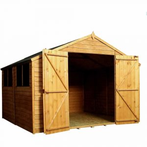 Mercia Garden Products Mercia 10 x 10ft Overlap Workshop Apex Shed Wood