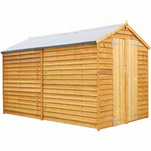 Mercia Garden Products Mercia 10 x 6ft Overlap Windowless Apex Shed Wood