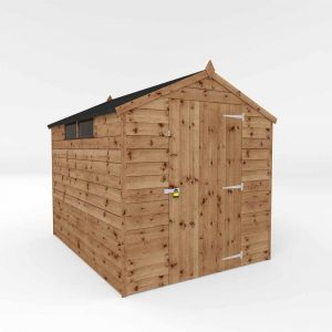 Mercia Garden Products Mercia 8 x 6ft Pressure Treated Shiplap Security Apex Shed Wood