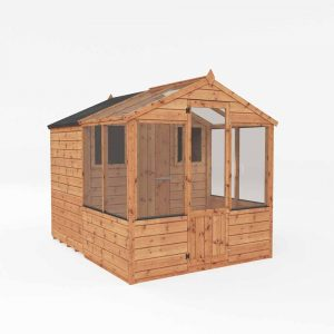 Mercia Garden Products Mercia 8 x 6ft Traditional Greenhouse Combi Shed Wood