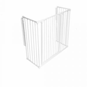 Metal Fireplace Screen Belfry Heating Size: 105cm H x 72cm W x 51cm D, Finish: White