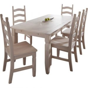 Mexican Dining Table Henke Collection Colour: Light pine/White