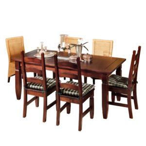 Mexican Dining Table Henke Collection Colour: Pine/Colonial Brown