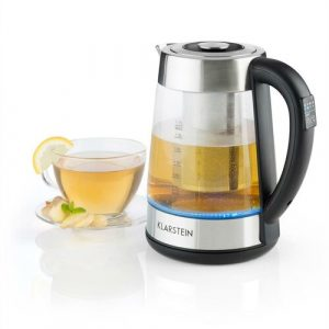 Ostfriese 1.7 L Stainless Steel and Glass Kettle Klarstein