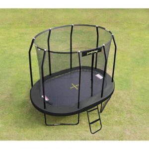 Oval 12' Backyard Trampoline with Safety Enclosure JumpKing