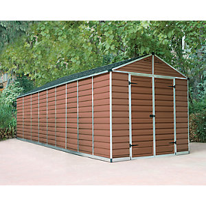 Palram Skylight 8 x 20ft Plastic Apex Shed