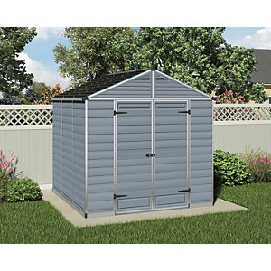 Palram Skylight 8 x 8ft Plastic Apex Shed