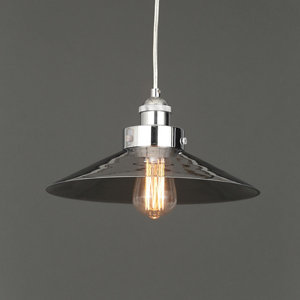 Penny Antique brass effect Pendant Ceiling light