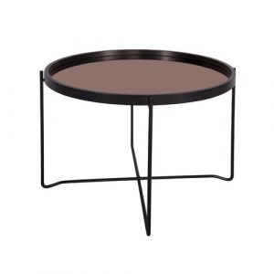Polished Coffee Table with Tray Top Leitmotiv