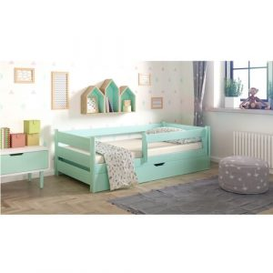 Primo Toddler Bed with Drawer Nordville Size: European Toddler (80 x 180 cm), Colour (Bed Frame): Turqouise