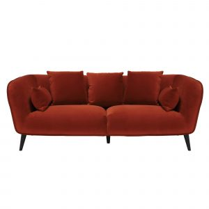 Purcell 3 Seater Sofa, Burnt Orange