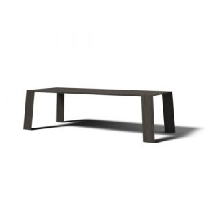 Pure Dining Table JAVORINA Colour: Coffee, Size: H76 x L240 x W100cm