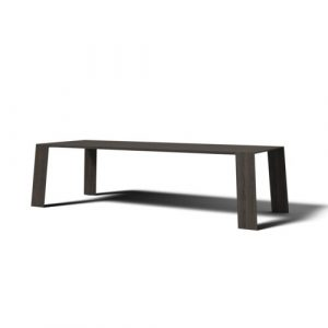 Pure Dining Table JAVORINA Colour: Coffee, Size: H76 x L280 x W100cm