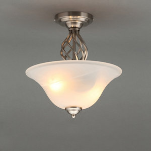 Rolli Nickel effect 2 Lamp Ceiling light