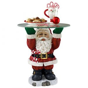 Santa Claus Sculptural Side Table Design Toscano