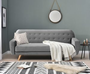 Scala Grey Velvet Sofa Bed