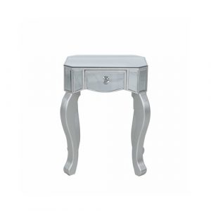 Side Table with Storage Mercer41 Colour: Silver