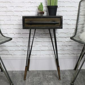 Side Table with Storage Williston Forge