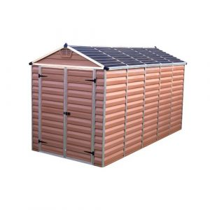 Skylight 6 ft. W x 13 ft. D Plastic Garden Shed Palram Colour: Amber