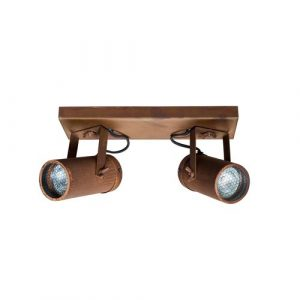 Spot 2-Light 8.5cm Ceiling Spotlight Dutchbone Finish: Rust