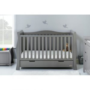 Stamford Luxe Cot Bed with Mattress Obaby Colour: Taupe Grey