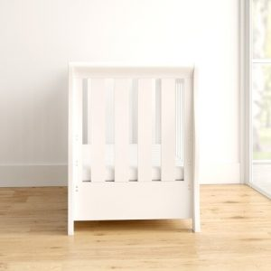 Stamford Luxe Cot Bed with Mattress Obaby Colour: White