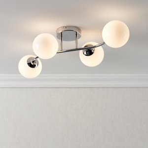 Statera Chrome effect 4 Lamp Ceiling light