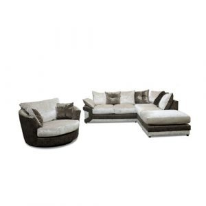 Steven 3 Piece Sofa Set Rosdorf Park Upholstery: Brown/Oyster, Orientation: Right Hand Facing