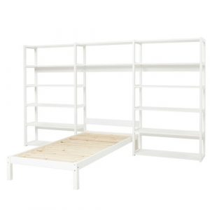 Storey Bed Frame with 2 Bookcases Hoppekids Size: European Single (90 x 200cm)