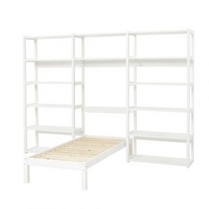 Storey Bed Frame with 2 Bookcases Hoppekids Size: European Toddler (70 x 160cm)