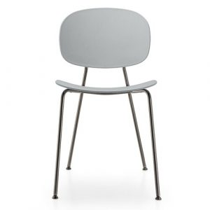 Tondina Dining Chair Infiniti Frame Colour: Almond, Leg Colour: Black Chrome
