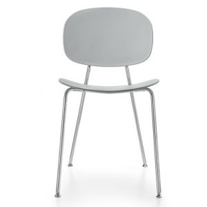 Tondina Dining Chair Infiniti Frame Colour: Almond, Leg Colour: Chrome