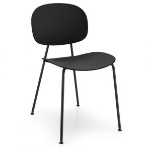 Tondina Dining Chair Infiniti Frame Colour: Black, Leg Colour: Black