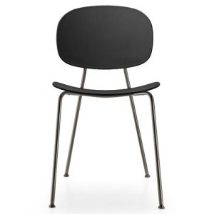 Tondina Dining Chair Infiniti Frame Colour: Black, Leg Colour: Black Chrome