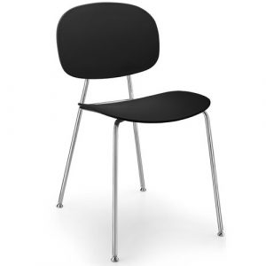 Tondina Dining Chair Infiniti Frame Colour: Black, Leg Colour: Chrome