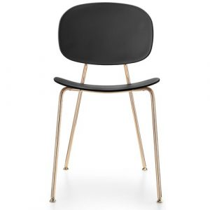 Tondina Dining Chair Infiniti Frame Colour: Black, Leg Colour: Copper