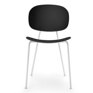Tondina Dining Chair Infiniti Frame Colour: Black, Leg Colour: White