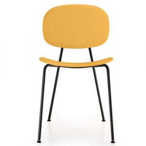 Tondina Dining Chair Infiniti Frame Colour: Peach, Leg Colour: Black