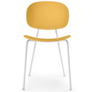 Tondina Dining Chair Infiniti Frame Colour: Peach, Leg Colour: White